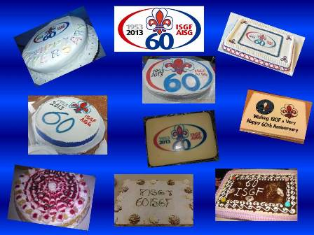 Birthday cakes ISGF 60 years