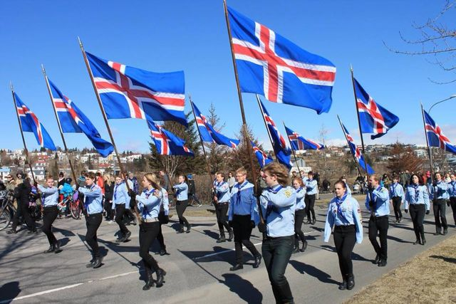 st george day 2018 iceland